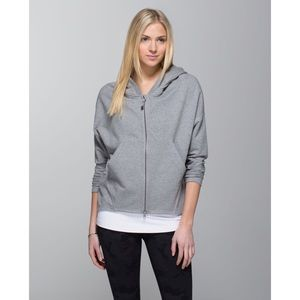 RARE Lululemon Hold Your Om Hoodie in Heather Grey